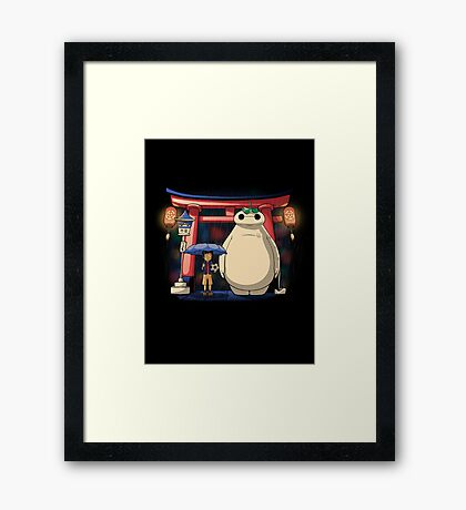 Big neighbor Framed Print