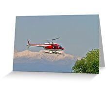 Vigili del Fuoco VF 80 Agusta A109 Power Helicopter  Greeting Card