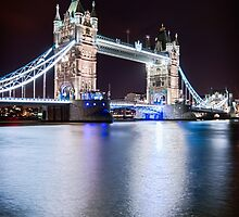 Tower Bridge at Night by edwhyphoto