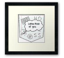 Doodle Pocket Framed Print