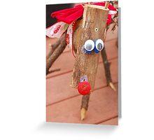 Firewood Reindeer Greeting Card