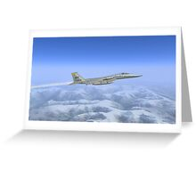 General Dynamics F-16c Greeting Card