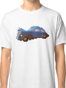 Blue pixel retro car Classic T-Shirt