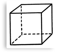 Minimalist Cube Canvas Print