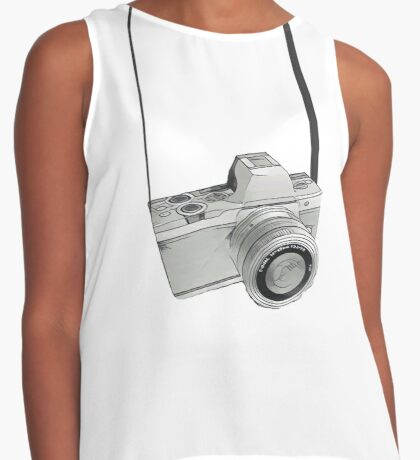 Dslr Camera sketch Contrast Tank