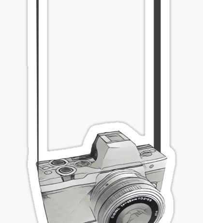 Dslr Camera sketch Sticker
