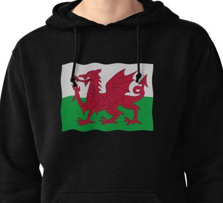 Welsh flag Pullover Hoodie