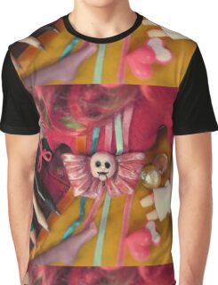 Hollow Yves Misstitched Dress Broken Doll's Head Graphic T-Shirt