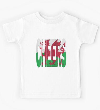 Cheers + Welsh flag Kids Tee