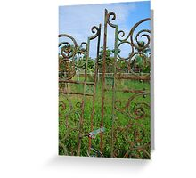 Gate to Nowhere Greeting Card