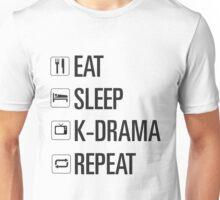 eat sleep kdrama repeat Unisex T-Shirt
