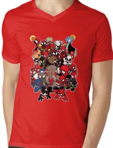 Spidey across time and space Mens V-Neck T-Shirt