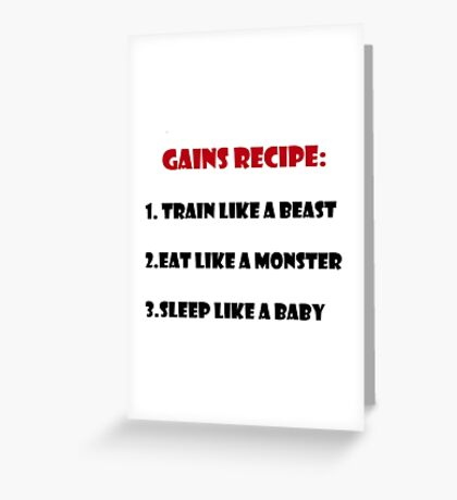 Gains Recipe Greeting Card
