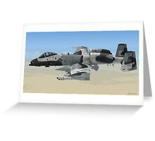 The Fairchild Republic A-10 Thunderbolt II Greeting Card
