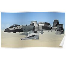 The Fairchild Republic A-10 Thunderbolt II Poster