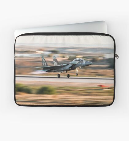 Israeli Air force F-15I Fighter jet at takeoff  Laptop Sleeve