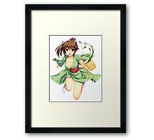 Just The Girl: Green Tea Kimono Framed Print