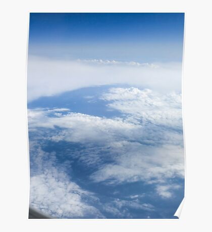 Beautiful cloudscape on a blue sky as seen from above  Poster