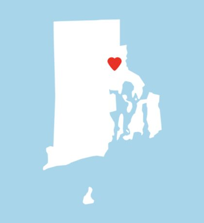 Rhode Island Love Sticker