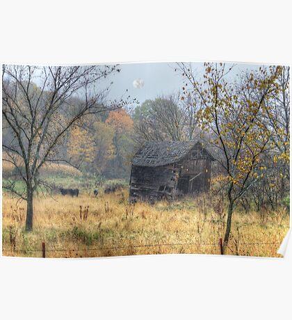 Autumn Beckons Beyond the Pasture Poster
