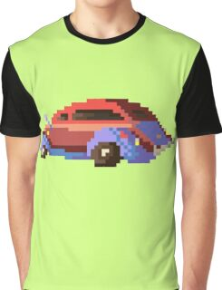 Red pixel retro car Graphic T-Shirt