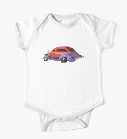 Red pixel retro car One Piece - Short Sleeve