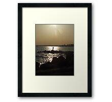 sunset and yoga in stonington borough 3 Framed Print