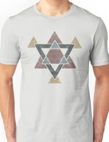 Abstract Western Tribal Geometry with Earth Tones T-Shirt