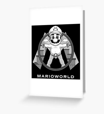 Mario World Greeting Card