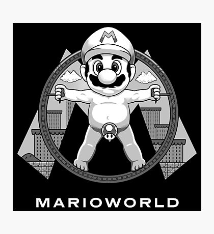 Mario World Photographic Print