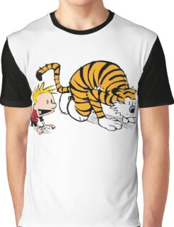 Calvin Hobbes -sprinter runner Graphic T-Shirt