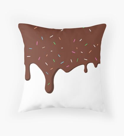 Chocolate Frosting Throw Pillow