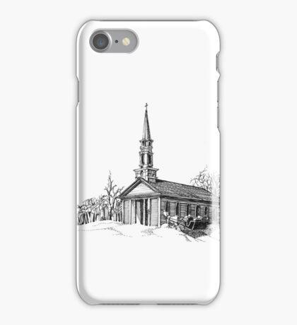 New England Snow Scene iPhone Case/Skin