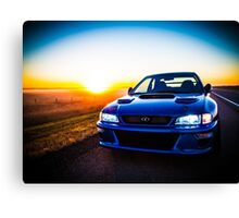 The World of Rally Blue Canvas Print