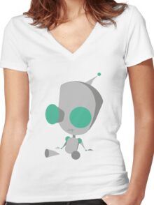 Invader Zim Gir Women's Fitted V-Neck T-Shirt