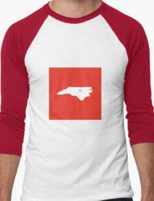 North Carolina Love Men's Baseball ¾ T-Shirt