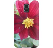 red flower blossom Samsung Galaxy Case/Skin