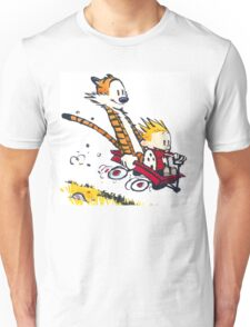 Calvin Hobbes - wagon cart races Unisex T-Shirt