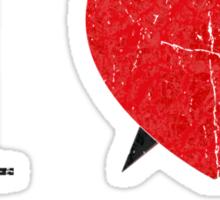 I love Transylvania (black eroded font) Sticker