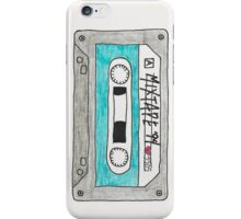 Vertical blue mixtape iPhone Case/Skin