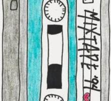 Vertical blue mixtape Sticker