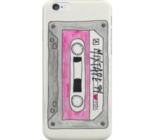 Vertical red mix tape iPhone Case/Skin