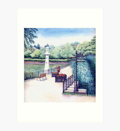 Scott Memorial 2, Roath Park, Cardiff Art Print