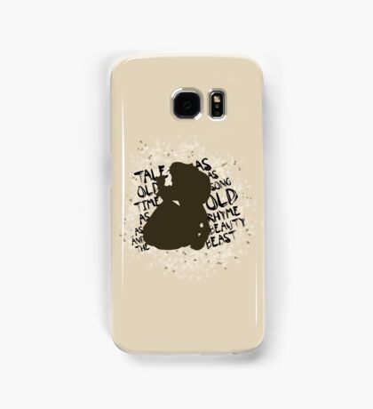Tale as old as time... (Brown) Samsung Galaxy Case/Skin