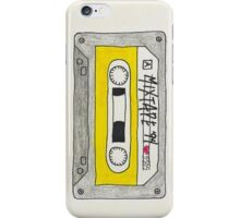 Vertical yellow mix tape iPhone Case/Skin