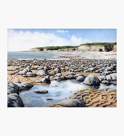 Towards Atlantic College, Glamorgan Coast, South Wales. Photographic Print