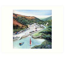 Solva Harbour, Pembrokeshire, West Wales. Art Print