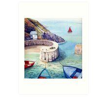 Porthgain Harbour, Pembrokeshire, Wales. Art Print