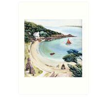 Cwm yr Egwlys - Pembrokeshire Coast Path.  Art Print