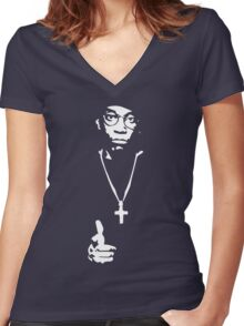 """Big L tribute"" Women's Fitted V-Neck T-Shirt"